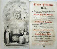 1825 Telescope ALMANAC Natural History ASTRONOMY English Sacred Poetry Byron etc