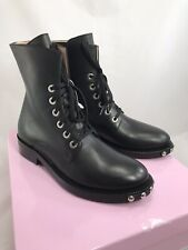 Inch2 Studded Boots Size EU 39 US 8 Black Calf Leather NEW