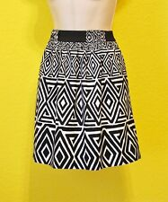 White House Black Market Skirt, XS, Black White, So Cute, Lined Mint Condition!