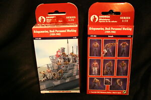 1:72 Andrea  WWII GERMAN U - BOAT  DECK PERSONNEL WORKING  STOCK # S12-S03