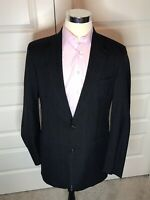 BROOKS BROTHERS Blue Gray Windowpane Check Woven Wool 2 Btn Blazer Jacket 42R