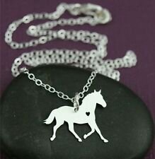 Horse Silhouette Necklace, womens gift