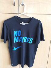 "Nike Black T-Shirt ""No Maybes"" Men's Medium"