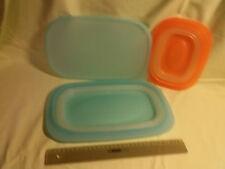 Tupperware 3tlg. Set Faltschüsseln + einen Deckel in blau und orange