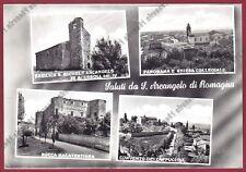 RIMINI SANTARCANGELO DI ROMAGNA 21 SALUTI da... VEDUTINE real photo viagg. 1955