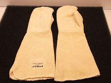 New Pair Heat Resist Mittens White L Terry Cloth (D18)