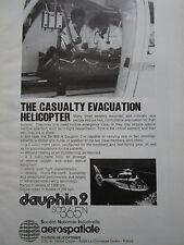 11/1981 PUB AEROSPATIALE DAUPHIN 2 SA 365N MEDEVAC SANITAIRE ORIGINAL AD
