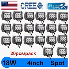 20X 4inch 18W SPOT CREE LED LIGHT BAR WORK OFFROAD BOAT UTE JEEP TRUCK SUV 4X4WD