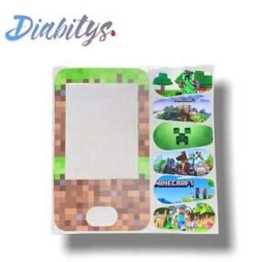 Dexcom G6 Receiver & Six Transmitter Stickers - Minecraft