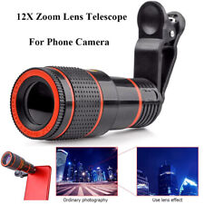 12X Optical Zoom Telephoto Lens External Telescope For Mobile Phone Camera Lens
