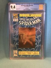 Spectacular Spider-Man 189 Gold Hologram Cover CGC 9.4 2nd Printing Buscema Art