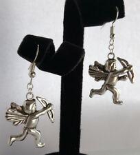 Cupid earrings cherub dangle drop valentines love tibetan silver
