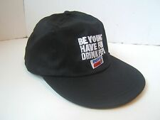 Be Young Have Fun Drink Pepsi Hat Black Strapback Baseball Cola Soda Cap