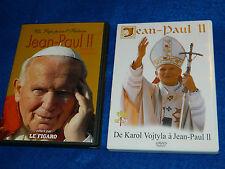 lot 2 DVD jean paul II 2 de karol vojtyla UN PAPE pour L'HISTOIRE religion