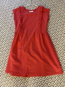 Hannna Andersson Coral Dress Girls Size 120cm