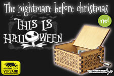 The Nightmare before Christmas This is Halloween Spieluhr Musicbox Neu New