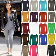 Women T Shirt Casual Long Sleeve Cotton V-Neck Blouse Ladies Slim Casual Tops