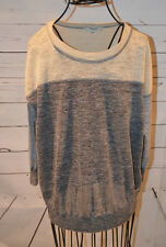 MADEWELL gray color block sweater size XS