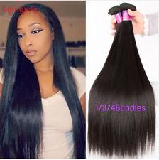 1/3/4 Bundle Peruvian Straight Hair Bundles 100% Remy Human Hair Weft Extensions