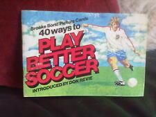 Brooke Bond Play Better Soccer Incomplete -30 Official Album Tea Cards