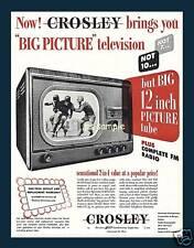 Crosley Big 12 Inch Tv - Vintage Ad Fridge Magnet