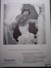 1953 Pretty girl in Warner's Bra Girdles photo print ad