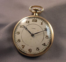 Antique Cyma Swiss Pocket Watch 7 Jewels Gold Filled Rambler Case