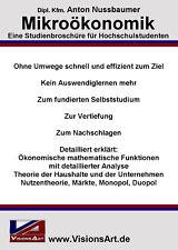 Mikroökonomik - Diplomarbeit! Wirtschaftswissenschaft! (Studium/Hochschule/Uni)