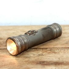 Old Antique Brass Or Copper Metal Pocket Flash Light Torch Battery China Made#06