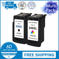 2 PK PG-245XL CL-246XL For Canon Black Color Ink Cartridge PIXMA MG2920 MX492