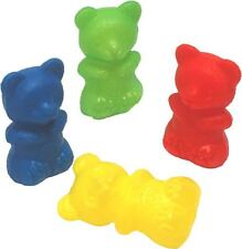 """12 Fun Bright Colorful Plastic Chewy Bears Bird Parrot Foot Toy Parts 2 1/4"""""""