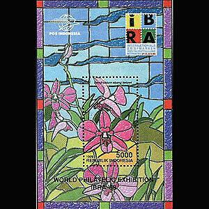 Indonesia #MiBl146 MNH S/S 1999 Flowers/IBRA '99 Phil. Exhib. [1846]
