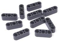 LEGO Technik - 10 x Liftarm 1x3 dick dunkelgrau / Dark Bluish Gray 32523 NEUWARE