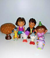 Dora the Explorer Figures Boots Swiper Dora Tico Chocolate Tree Lot of 8
