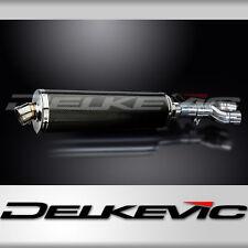 "Honda NT650 Hawk 18"" Carbon Fiber Oval Muffler Exhaust Slip On 88 89 90 91"