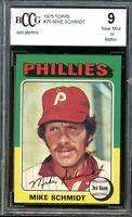 1975 Topps #70 Mike Schmidt Card BGS BCCG 9 Near Mint+
