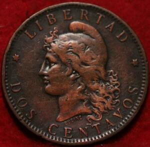 1885 Argentina 2 Centavos Foreign Coin