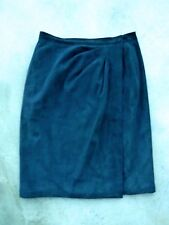 Vintage Yves St. Laurent Black Suede Skirt size 42