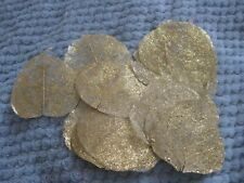 25 x Gold Glittered Skeleton Leaves
