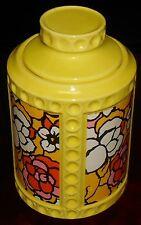 1960s Colorful Thumbprint McCOY COOKIE JAR Mod Florals USA