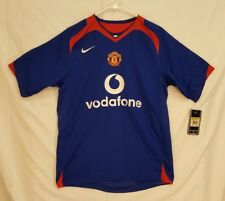 NWT Manchester United 2005-07 Blue Nike Away Football Soccer Jersey Sz Small S