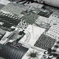 Dekostoff Digital schwarz weiß Sprüche Mode