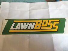 Cox Ride On Lawn Mower Cox Lawnboss- Sticker For Side of Bonnett PN DEC171