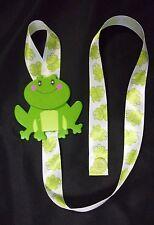 girls green frog ribbon barrette bow holder hair accessories organizer storage