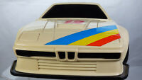 Rare Vintage M&C 1978 BMW 1M E26 Friction Action Plastic Toy Car 1:16 Body Shell