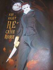 Pintura al óleo 30x12 pulgadas Halloween Michael Myers viernes 13th Elm Street exorcista