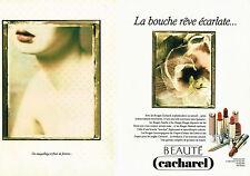 PUBLICITE ADVERTISING 094  1991  CACHAREL cosmétiques ( 2 pages) SARAH MOON