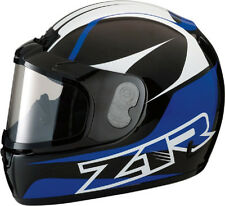 Z1R PHANTOM SNOWMOBILE SNOW HELMET FULL FACE ANTI-FOG SHIELD BLUE LARGE L