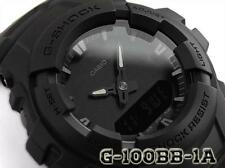 CASIO G-SHOCK G100BB-1A G-100BB-1A, ALL BASIC MATTE BLACK, DUAL TIME, NEOBRITE