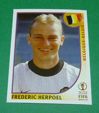 N°566 HERPOEL BELGIQUE BELGIË PANINI FOOTBALL JAPAN KOREA 2002 COUPE MONDE FIFA